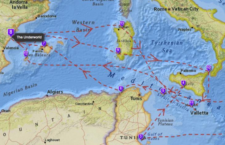 Cartina Mondiale Interattiva.La Mappa Interattiva Dei Luoghi Reali Dell Odissea Linkiesta