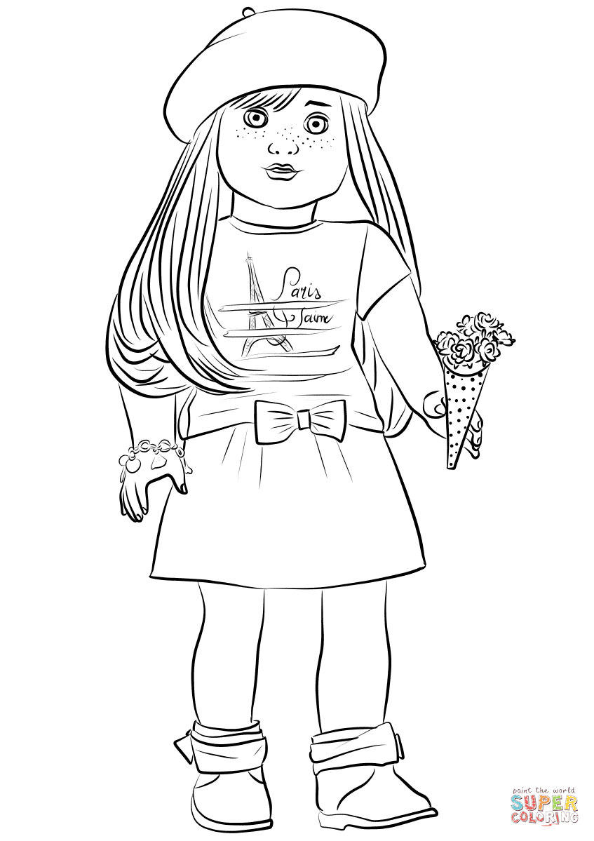 American Girl Grace Thomas Coloring Page Free Printable Coloring