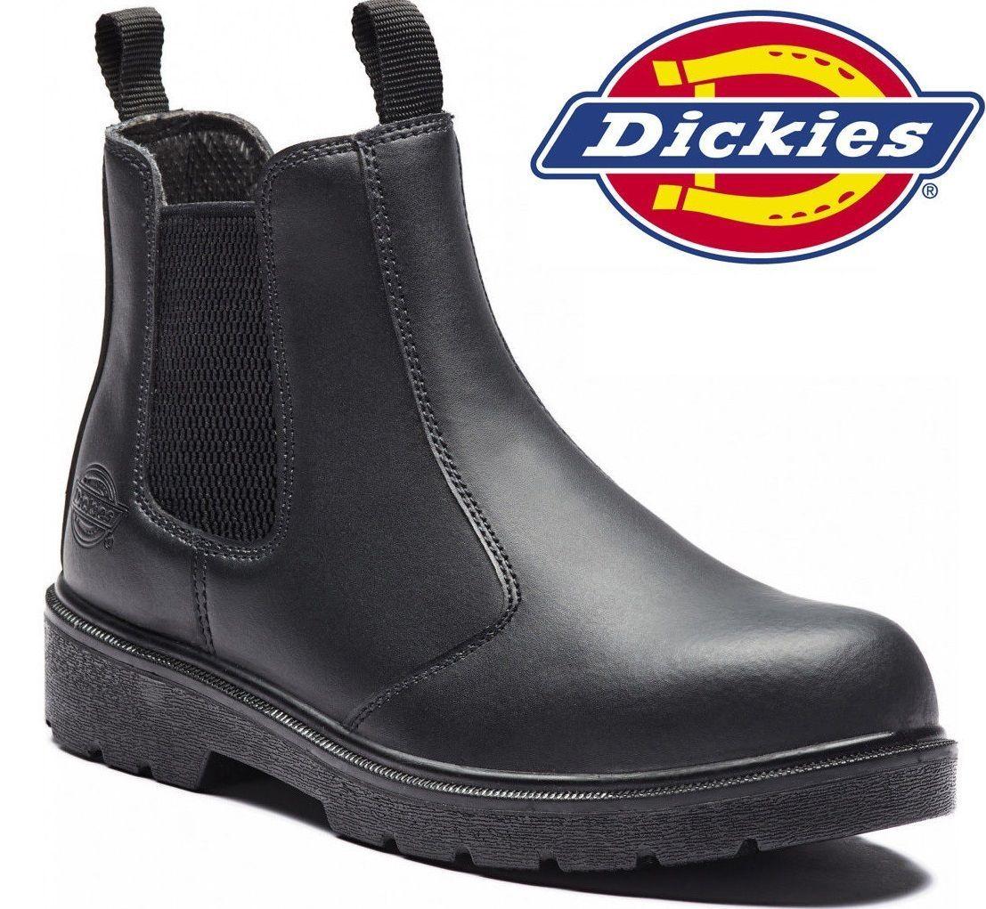 166aeb4c800 Mens dickies dealer waterproof chelsea steel toe cap safety work ...