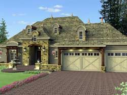 French country House Plan 2 Bedrooms 2 Bath 3052 Sq Ft Plan 38 531