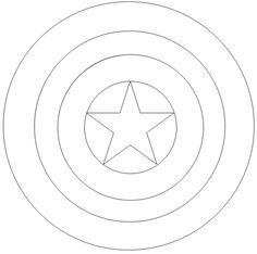 escudo capitan america para colorear  Buscar con Google  idead