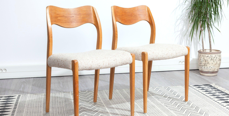 chaises vintage 2 chaises vintage paire de chaises vintage chaise scandinave chaise - Chaise Danoise