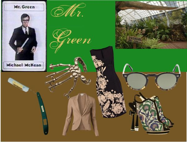 """""""Clue - Mr. Green"""" by watershome ❤ liked on Polyvore"""