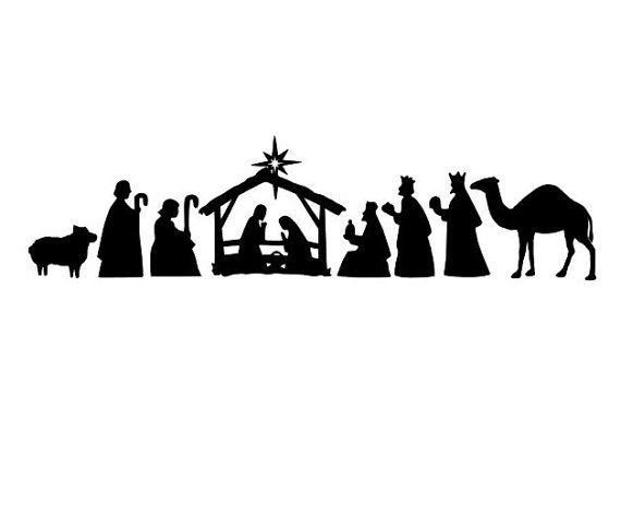 Decorate Your Wall Door Windows With This Nativity Scene
