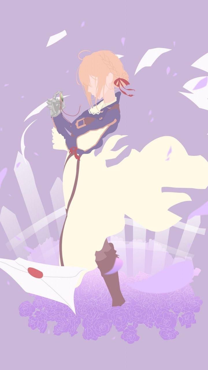 Minimal, Violet Evergarden, anime, 720x1280 wallpaper
