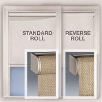 Standard Regular Vs Reverse Roll Shades Blinds Roller