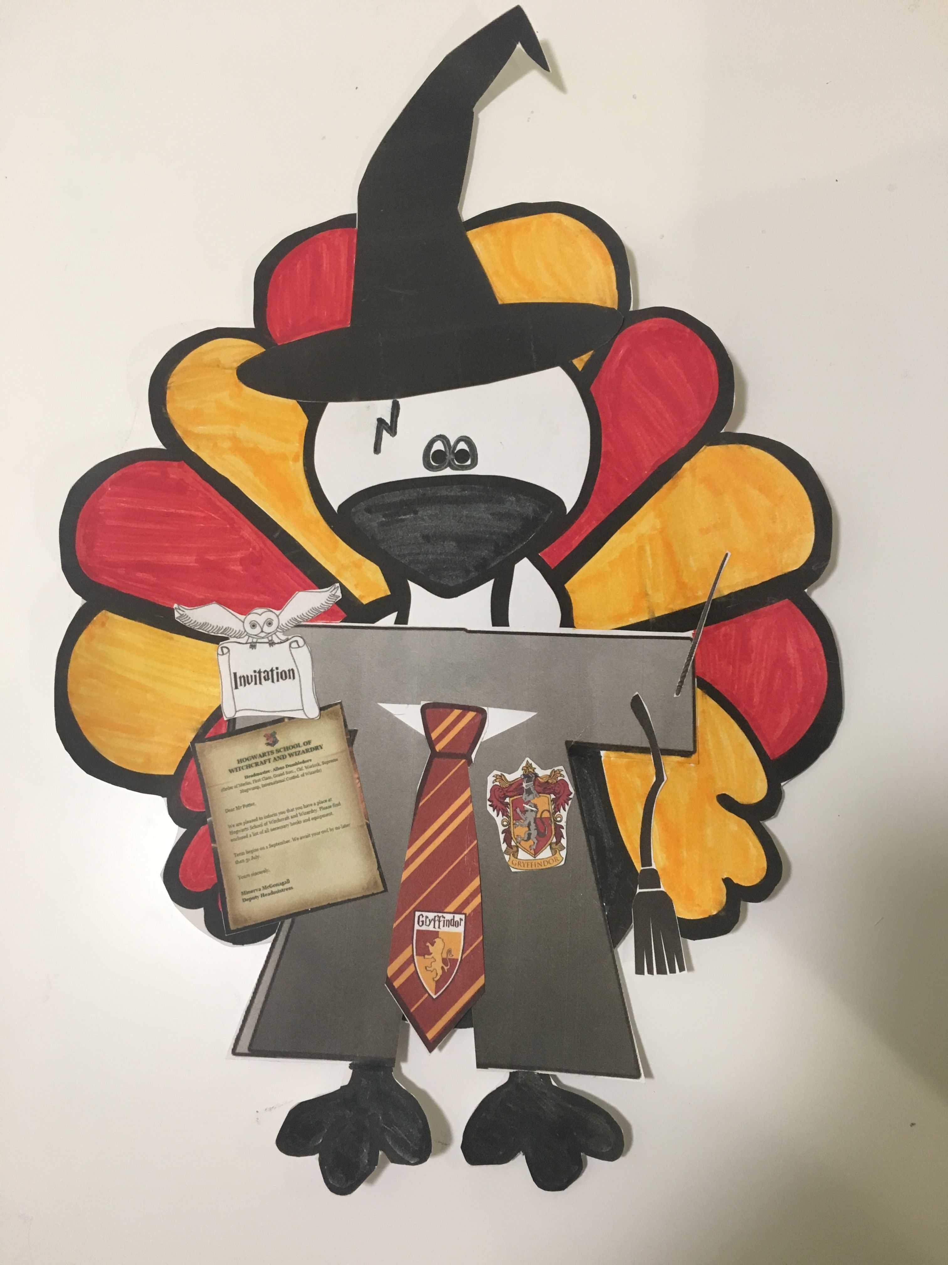 Harry Potter Inspired Disguise a Turkey Project #disguiseaturkeyideas
