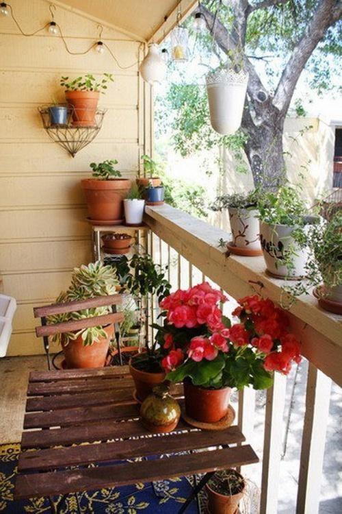 Peque Os Balcones Con Encanto Balcony Small Pinterest