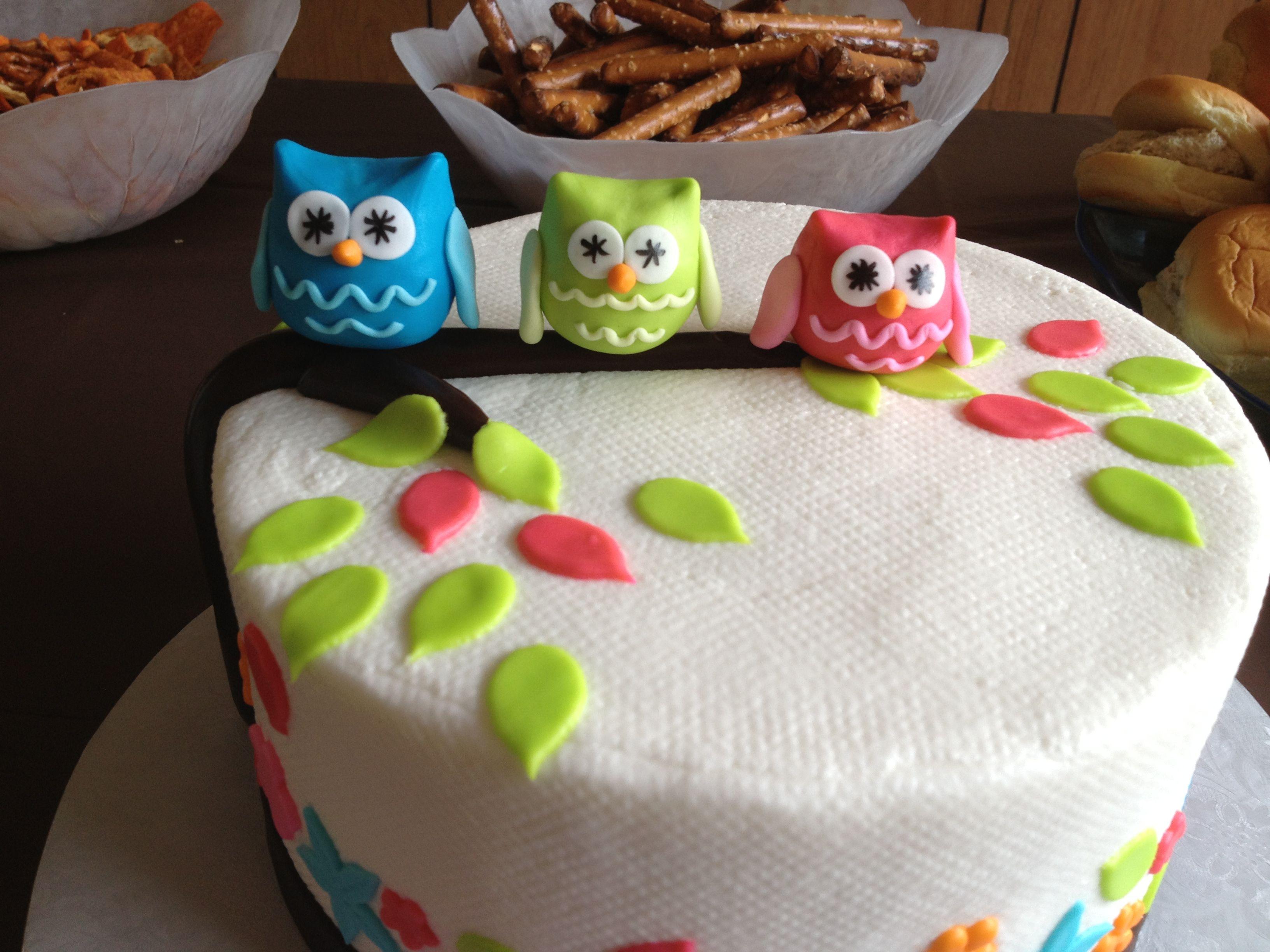 Owl baby shower cake | Baby Stuff | Pinterest | Shower ...
