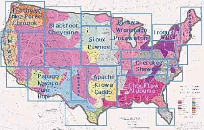 Map Of Native American Groups Very Cool Website Accompaniment To - Map of indian nations in the us