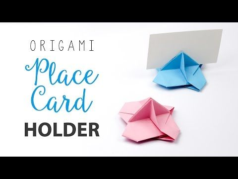 Origami Card Holder Instructions Paper Kawaii Craftorigami