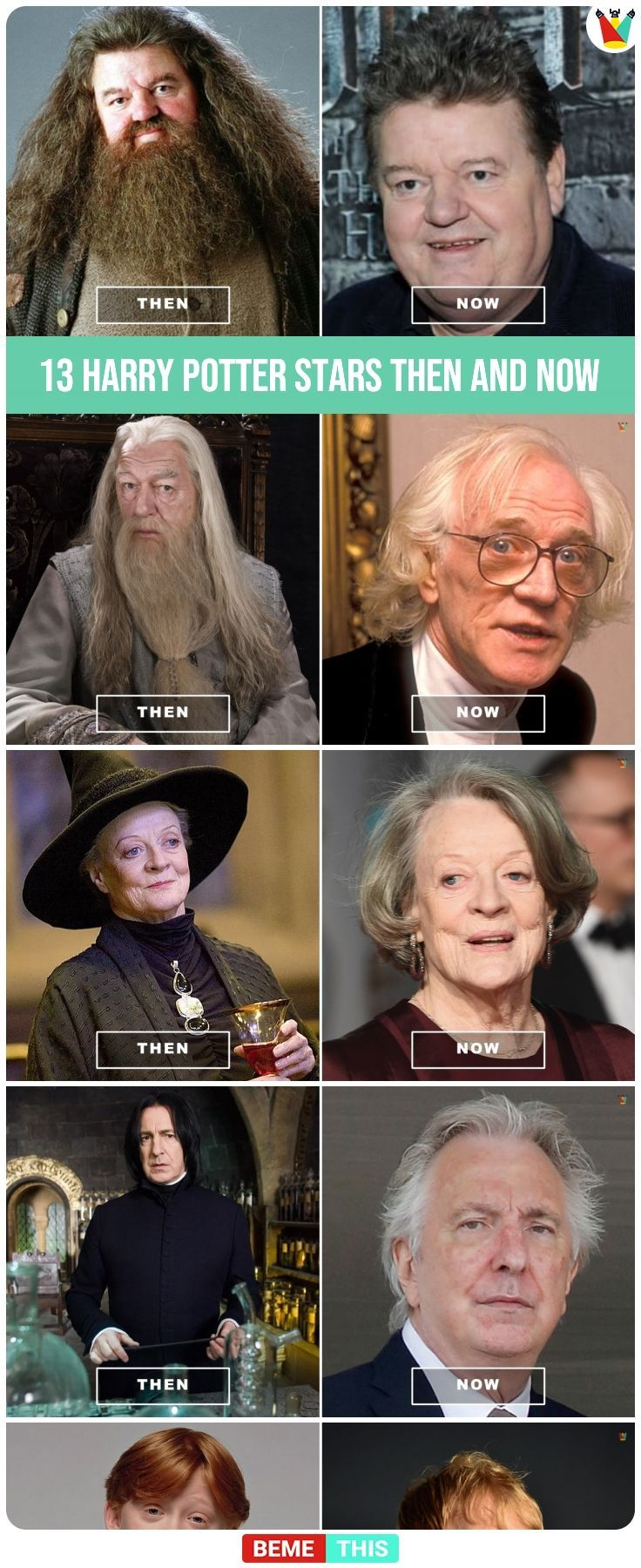 13 Harry Potter Stars Then And Now Harrypotter Thenandnow Harrypotterstars Hollywood Harrypottercast Harry Potter Quizzes Harry Potter Cast Harry Potter