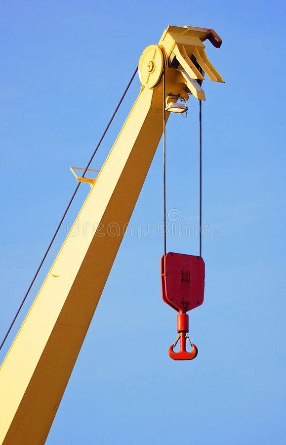 Crane Yellow crane with red hook