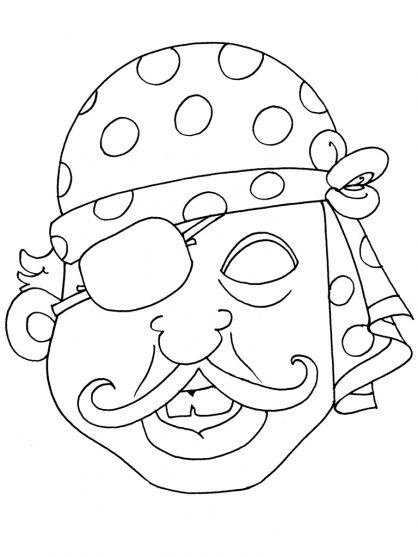 Coloriage masque 21 costume carnival crafts mask for kids halloween crafts - Coloriage masque ...