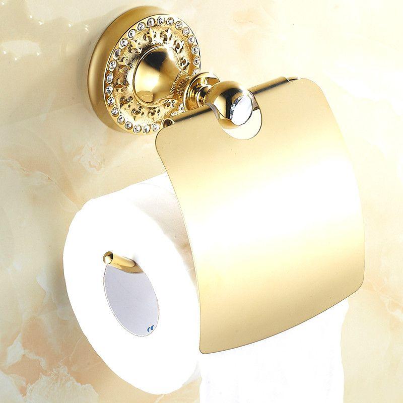 European Gold Toilet Paper Holder Diamond Toilet Roll Holder Carton Antique Bathroom Toilet Pa Brass Toilet Paper Holder Toilet Paper Holder Toilet Roll Holder