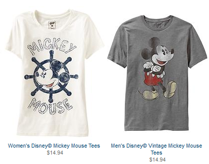 Disney Shirts at Old Navy - Disney Insider Tips