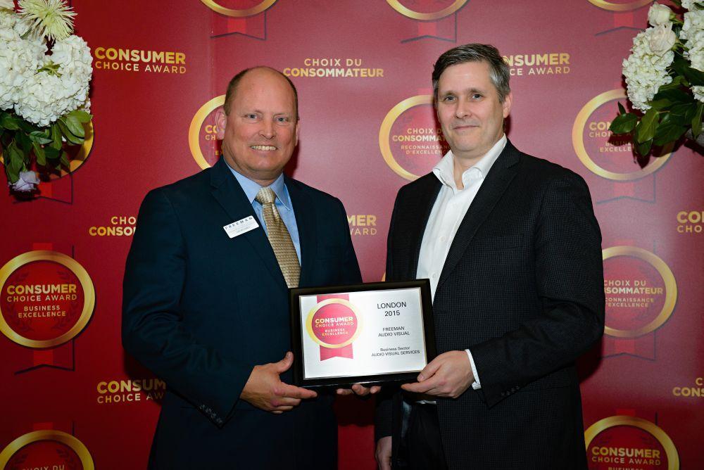 Freeman Audio Visual London Wins 2015 Consumer Choice Award for AV Services  #eventprofs #awards #consumerchoiceaward #AV