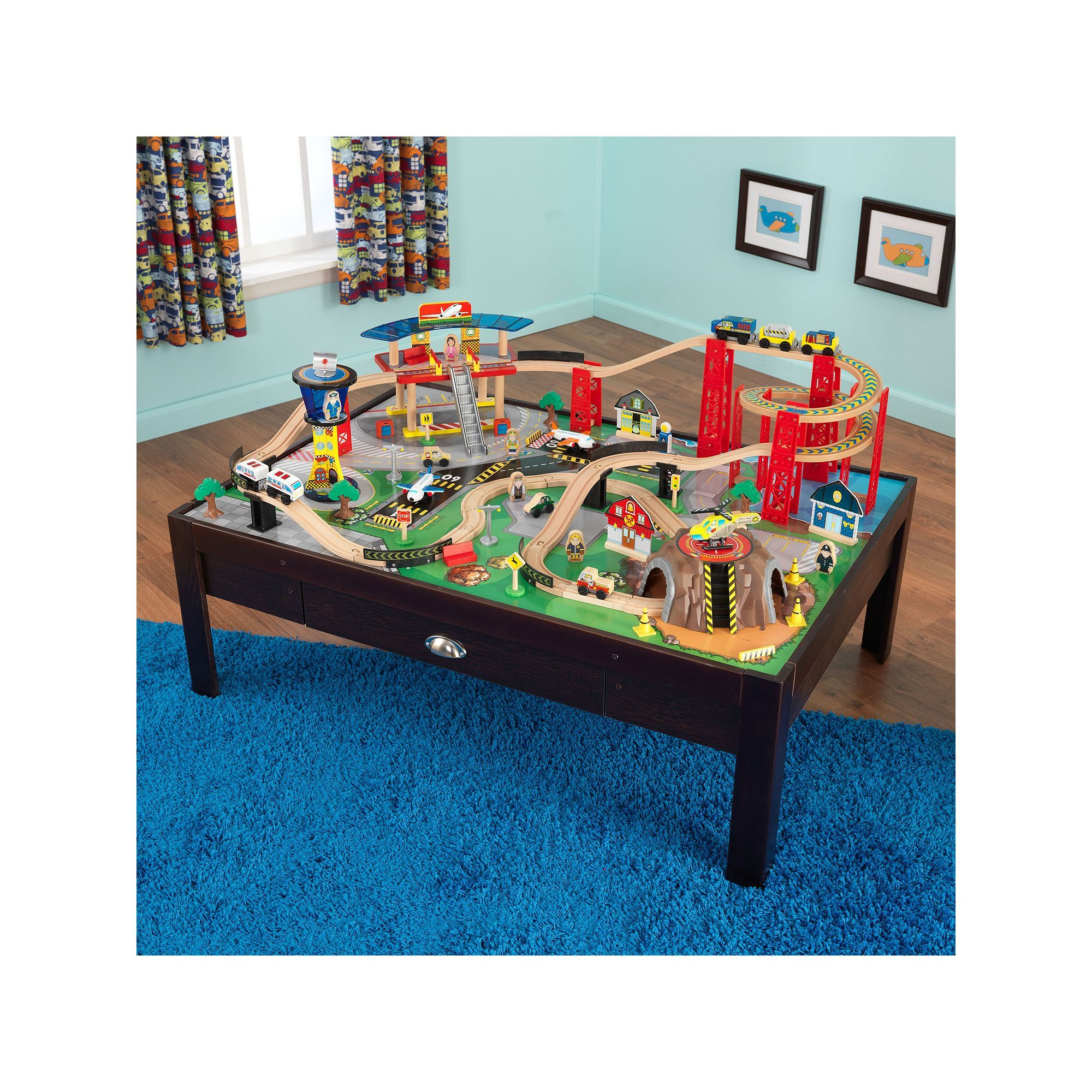 KidKraft Airport Express Train Set u0026 Table  sc 1 st  Pinterest & KidKraft Airport Express Train Set and Table Multicolor | Airport ...