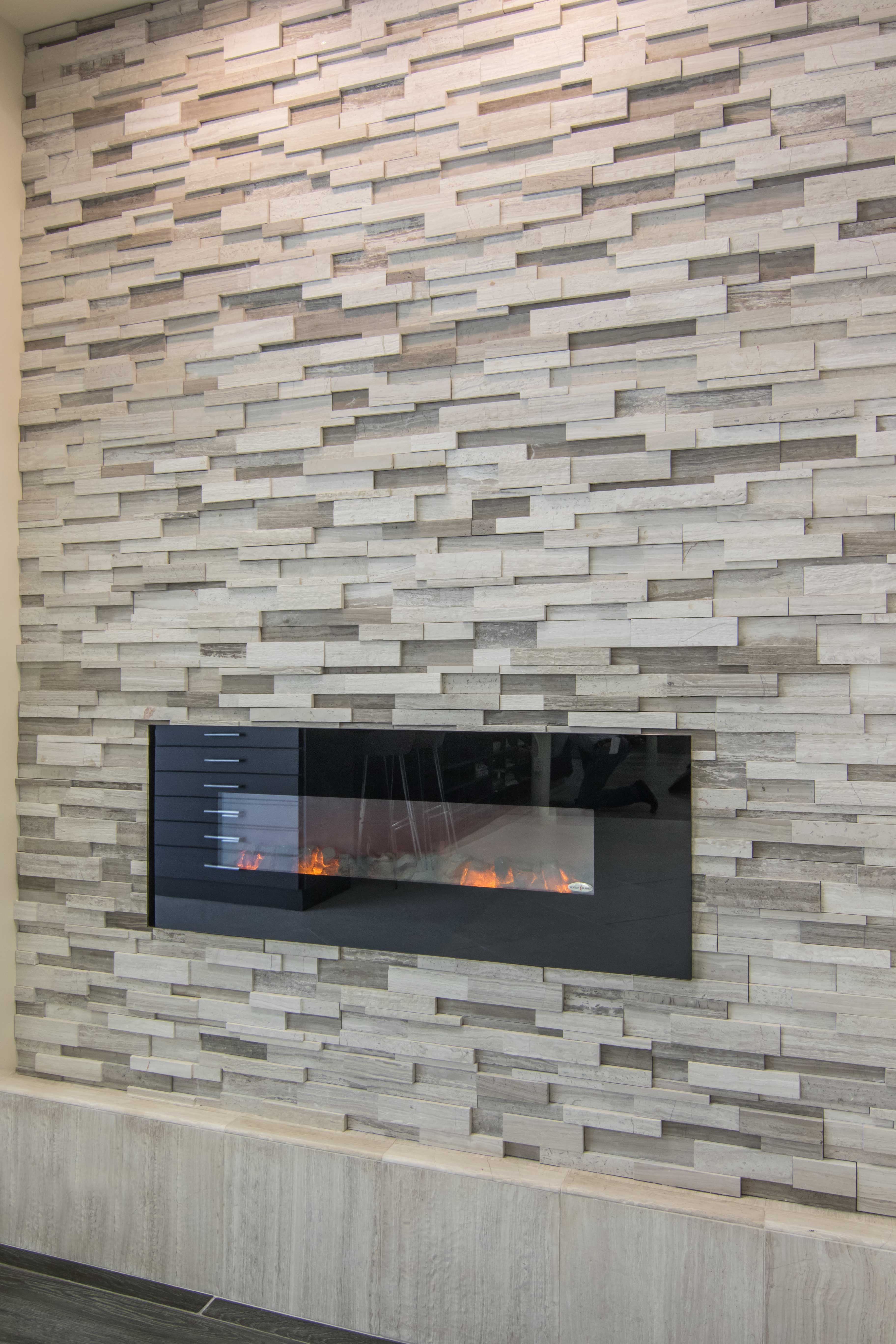 Cream hue fireplace tile - Legno Architectural Limestone Wall Tile ...
