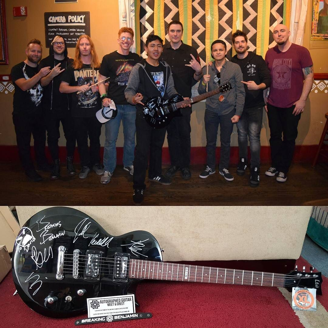 For those who dont believe i met breaking benjamin here it is xd i for those who dont believe i met breaking benjamin here it is xd i m4hsunfo