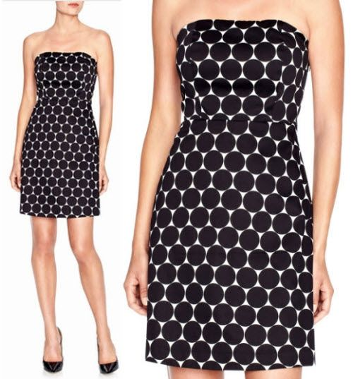 The Limited Strapless Dot Dress