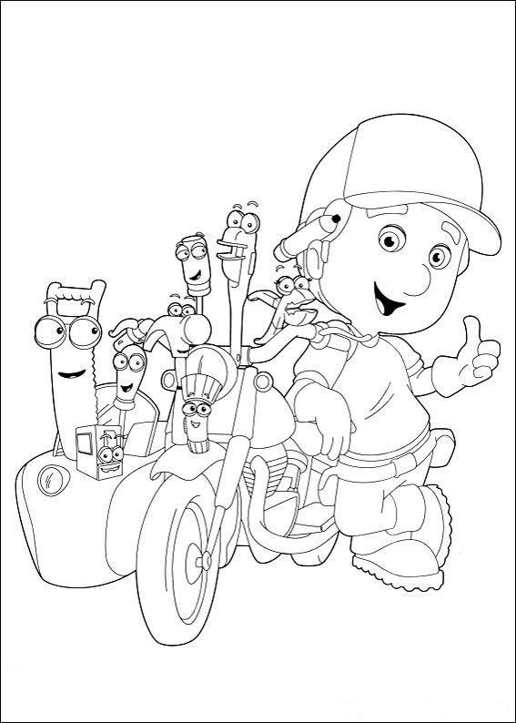 Fargelegging Handy Manny. Tegninger 7