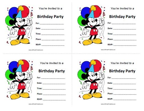 inspired in mickey mouse free printable party invitations in red – Free Mickey Mouse Birthday Invitations