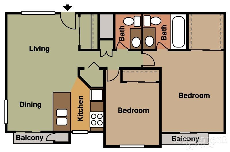 Suncrest Apartments Mesa Az 85201 Apartments For Rent House Rental Apartments For Rent Apartment