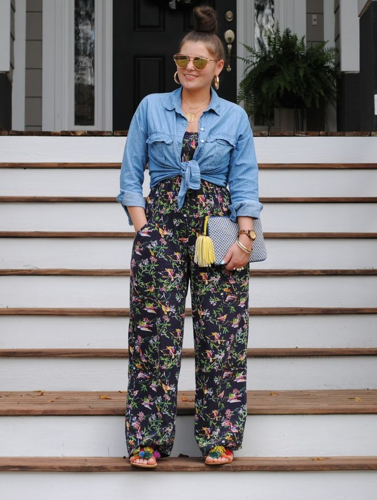 The Rule of 5 5 Ways to Wear a Chambray Button Down Shirt #plussizesummeroutfits…