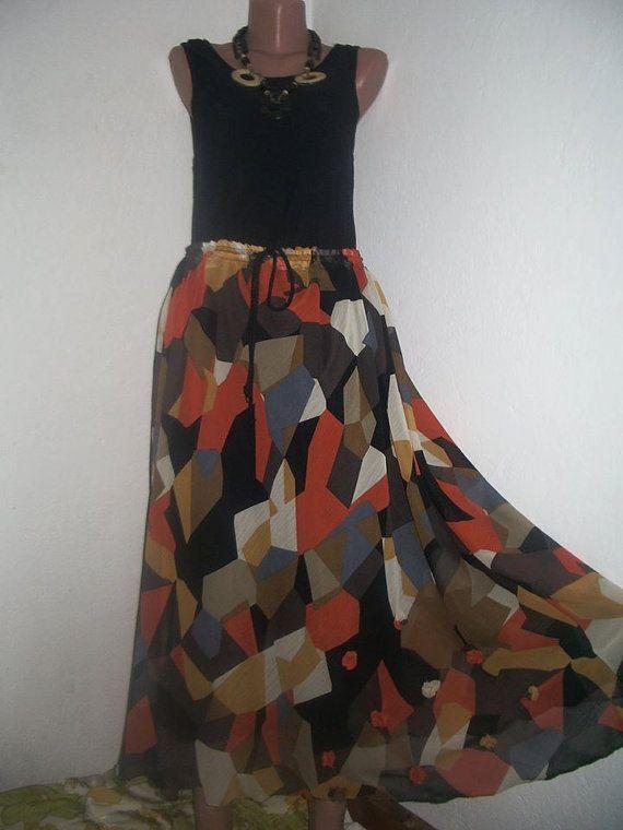ca86b95742 Boho Skirt Gypsy Skirt Maxi Skirt Hippie Skirt by PlusStyle, £32.00