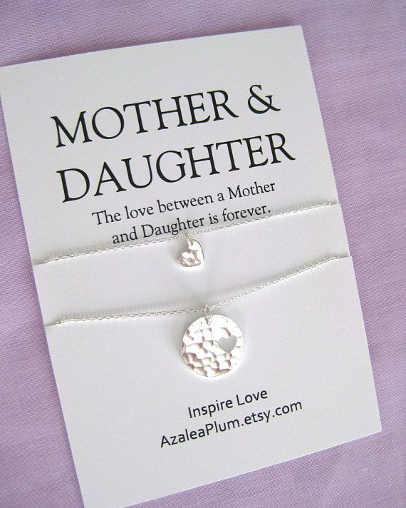 Mother Daughter Necklace Birthday Gift Ideas For Mom