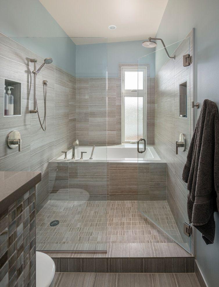 American bath factory contemporary bathroom image ideas seattle ceramic tile bathroom glass Modern bathroom north hollywood