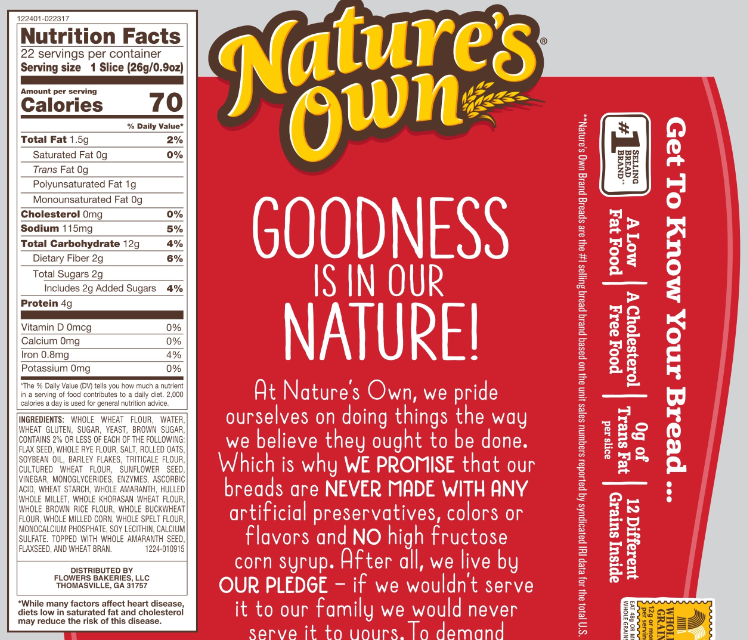 The Updated Nutrition Facts Label Provides Calories In A Larger Font To Emphasize This Information For Co Nutrition Facts Label Nutrition Facts Nutrition Store