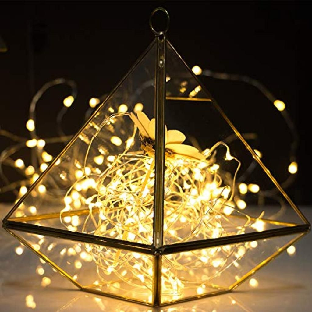 Pack Of 6 Led Moon Starry String Lights With 20 Micro Leds