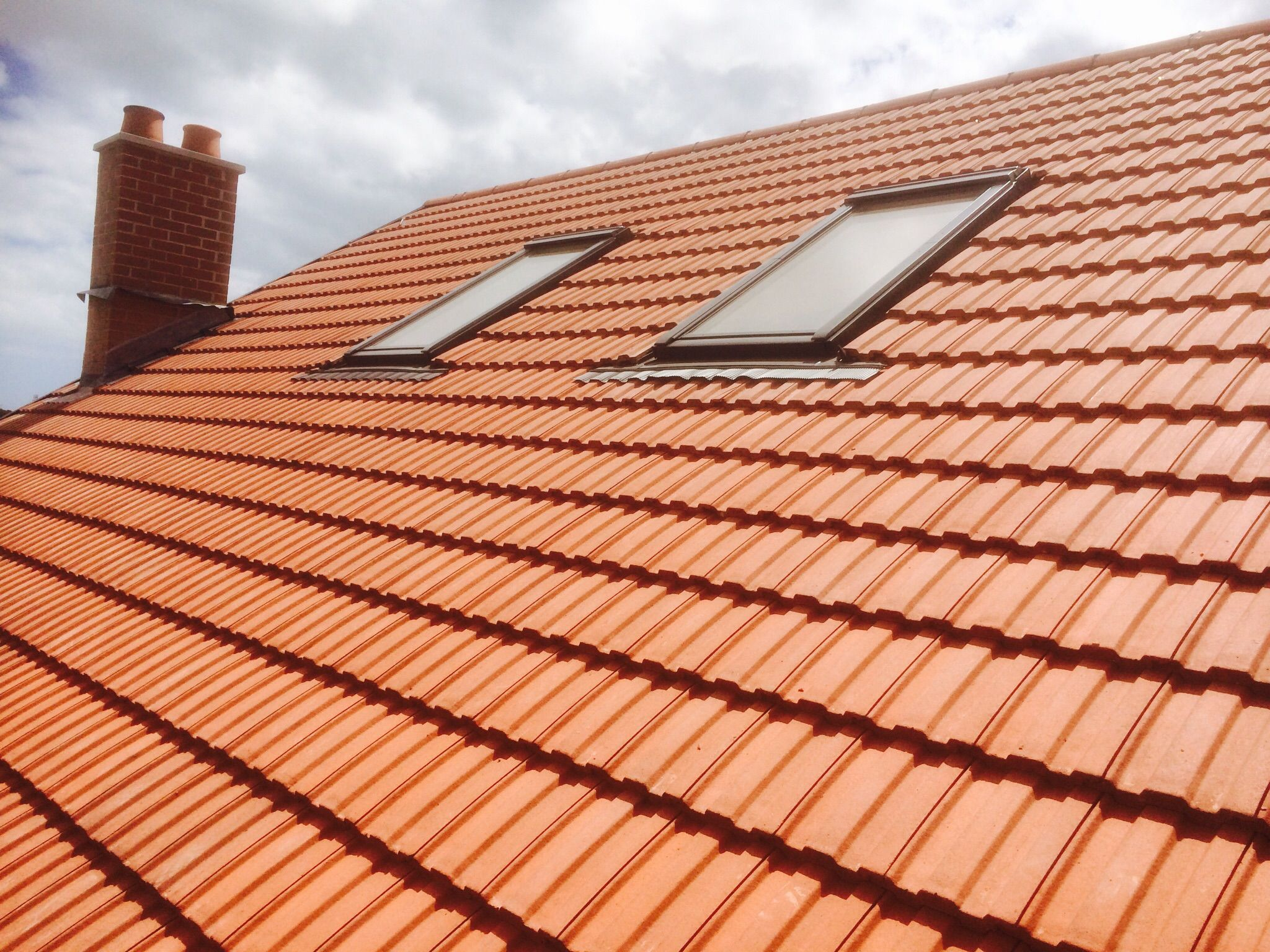 New Roof Finished In Redland Terracotta 49 Tiles Low Profile Design