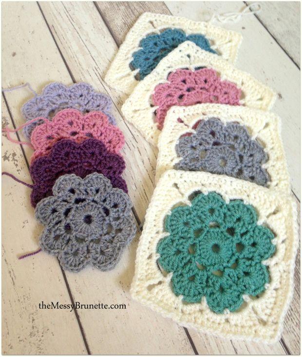 Maybell Flower Squares | crochet patterns | Pinterest | Ganchillo ...
