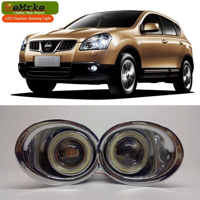 Eemrke For Nissan Qashqai J10 2006 2013 Led Angel Eye Halogen Bulbs H11 55w Fog Lamp Drl Daytime Running Lights Car Lights Nissan Qashqai Led Angel Eyes