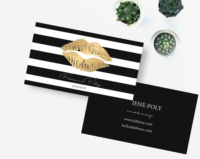 LipSense Business Cards Gold #lipsense business card Makeup business ...