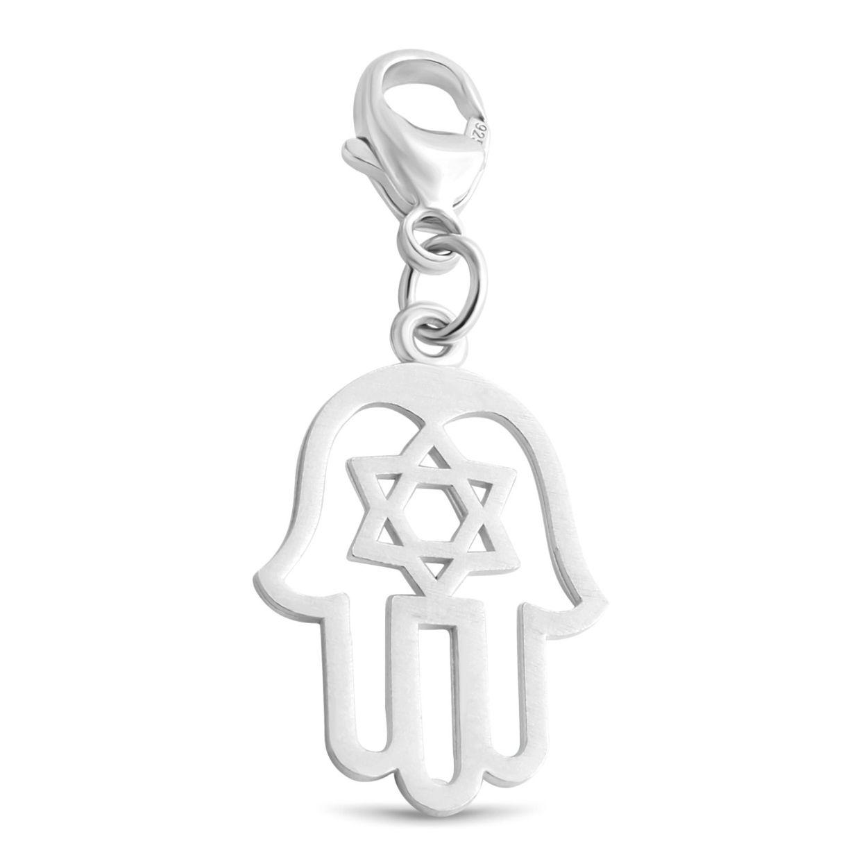 Judaica Star Of David Hamsa Hand Jewish Good Luck Symbols Charm