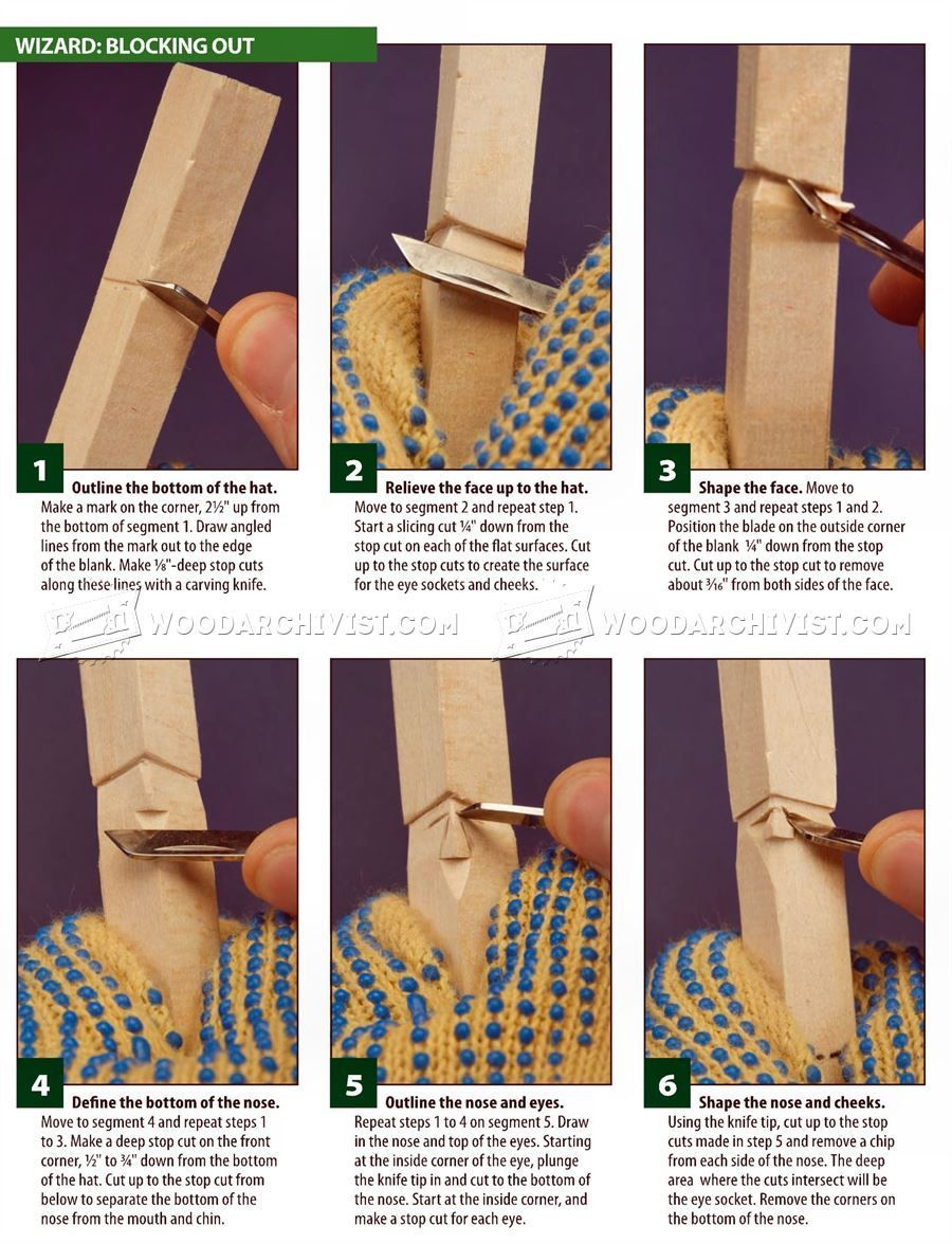 #281 5 Minute Wizard - Wood Carving Patterns - Wood Carving Patterns and Techniques