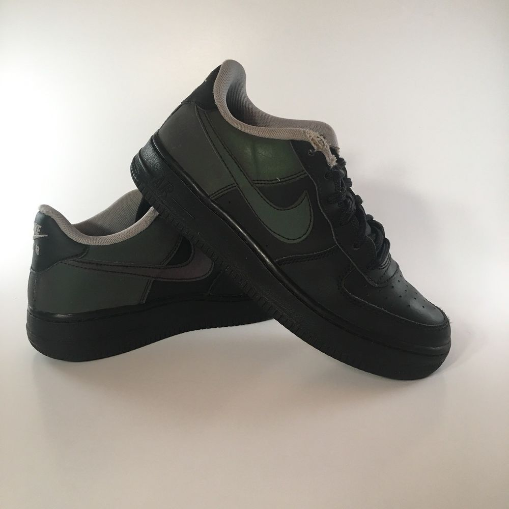 6fb562be5eb88 GS Nike NBA Air Force 1 Low LV8 Casual Shoes Black Black Wolf Grey 820438  009 4Y  fashion  clothing  shoes  accessories  kidsclothingshoesaccs   boysshoes