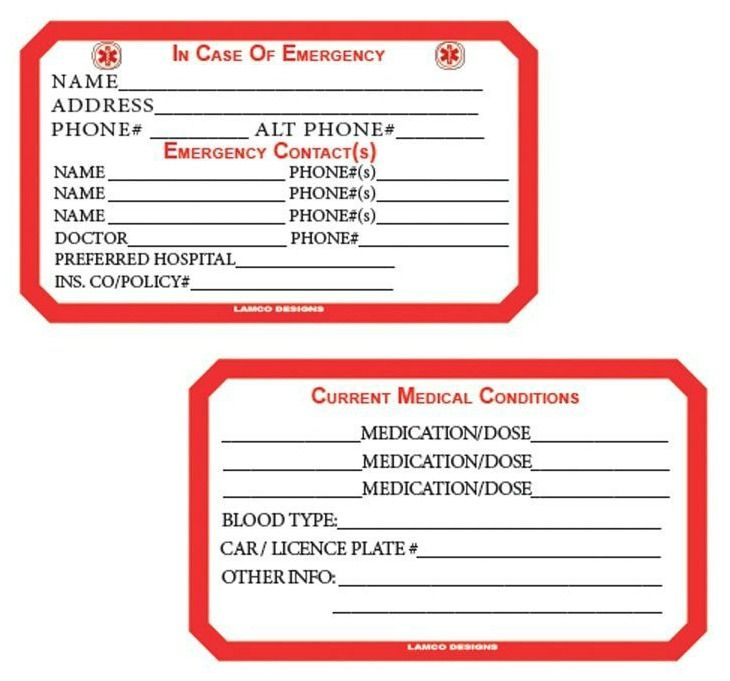 How And Why To Add An Ice App To Your Smart Phone In Case Of Emergency Contact Card Template Contact Card Emergency Medical