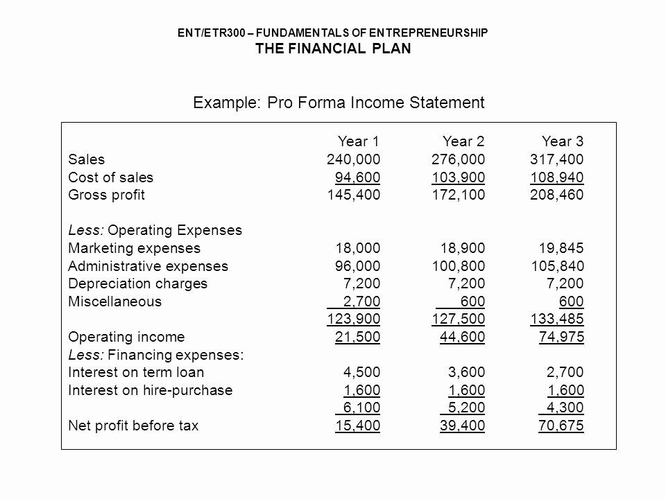 Pro Forma Projections Template from i.pinimg.com