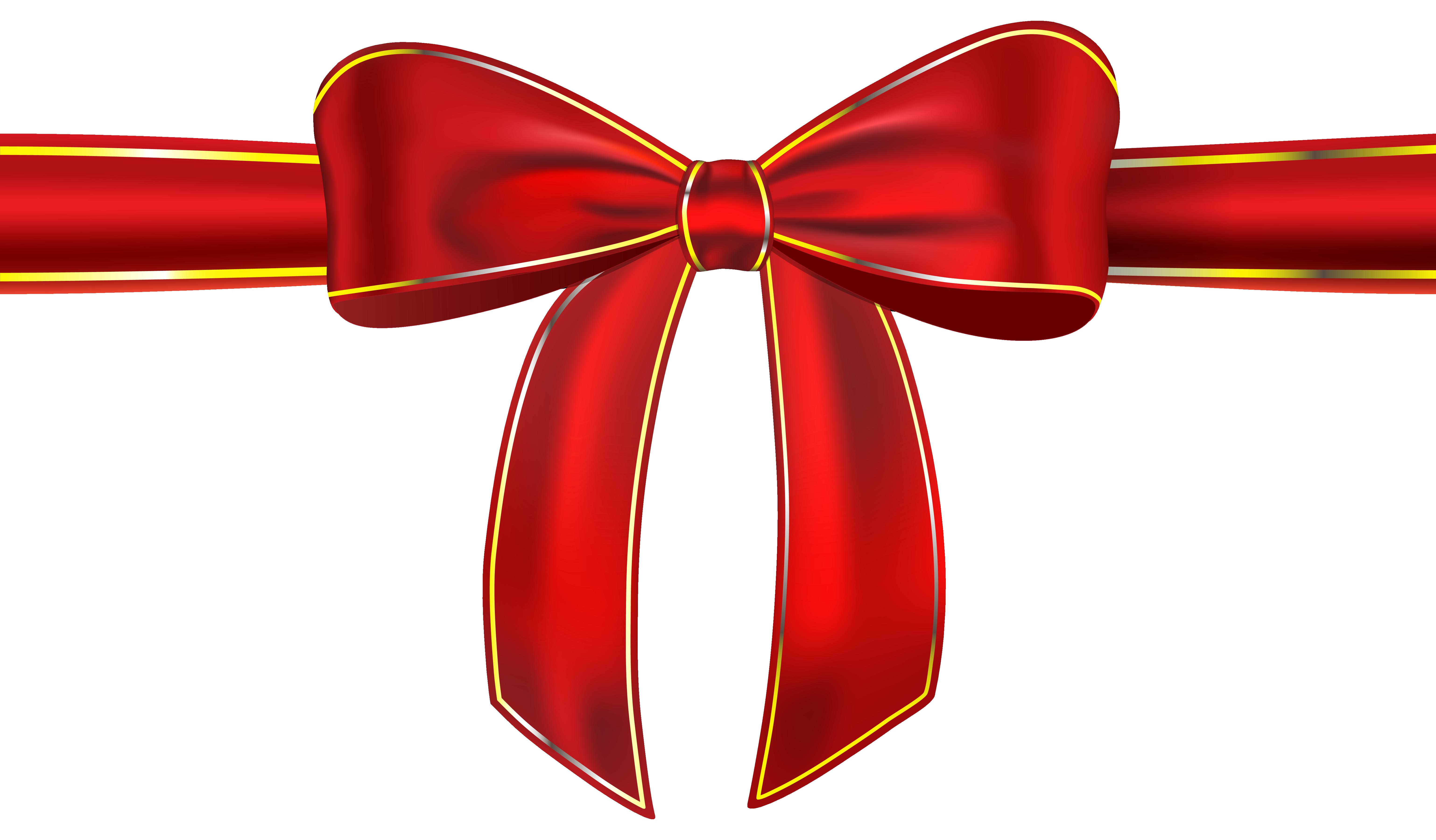 Cloth Ribbon Photo Png Red Gift Christmas Bows Ribbon Bows