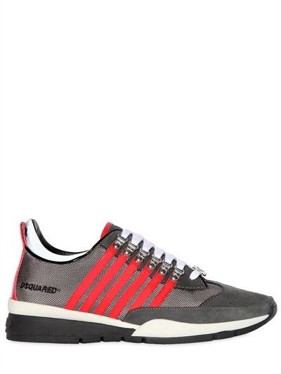 Dsquared2251 STRIPED NYLON & SUEDE SNEAKERS Coqdcg1