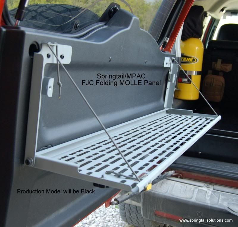 Springtailsolutions Fj Cruiser Rear Door Folding Molle
