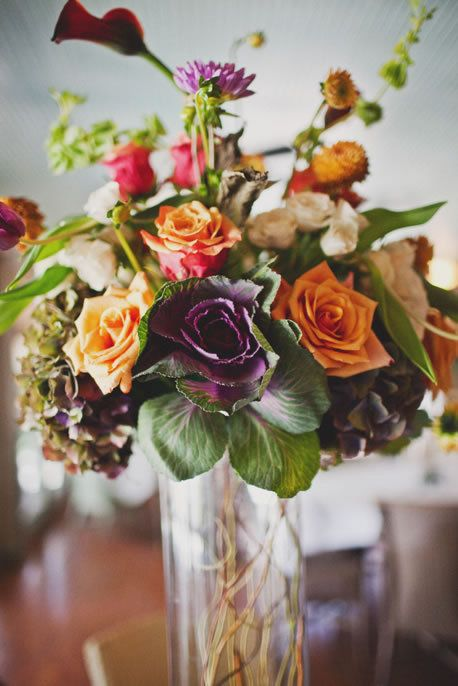 Pretty fall wedding flowers {Photo by Taylor Lord via Project Wedding}