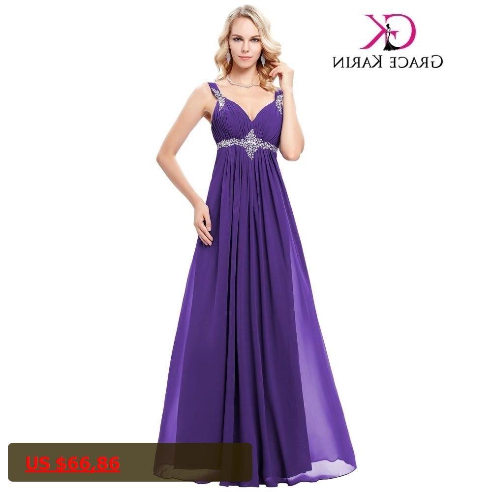 Grace karin beadings v neck sleeveless long prom dress new