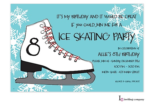ice skating party skate party