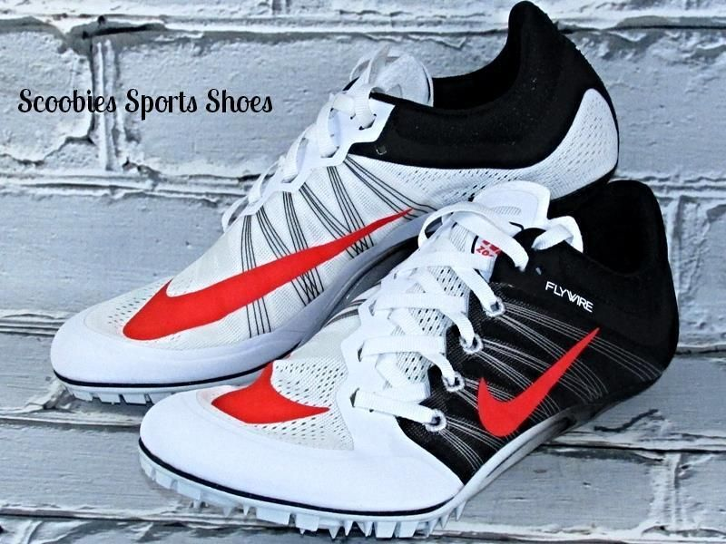 Nike Zoom JA Fly 2 Sprinters Track Running Spikes Size 8 White/Black/Atomic